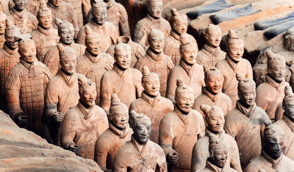 Cycle the city walls and say hello to Xi'an's Army of Terracotta Warriors © Nikada / Getty Images