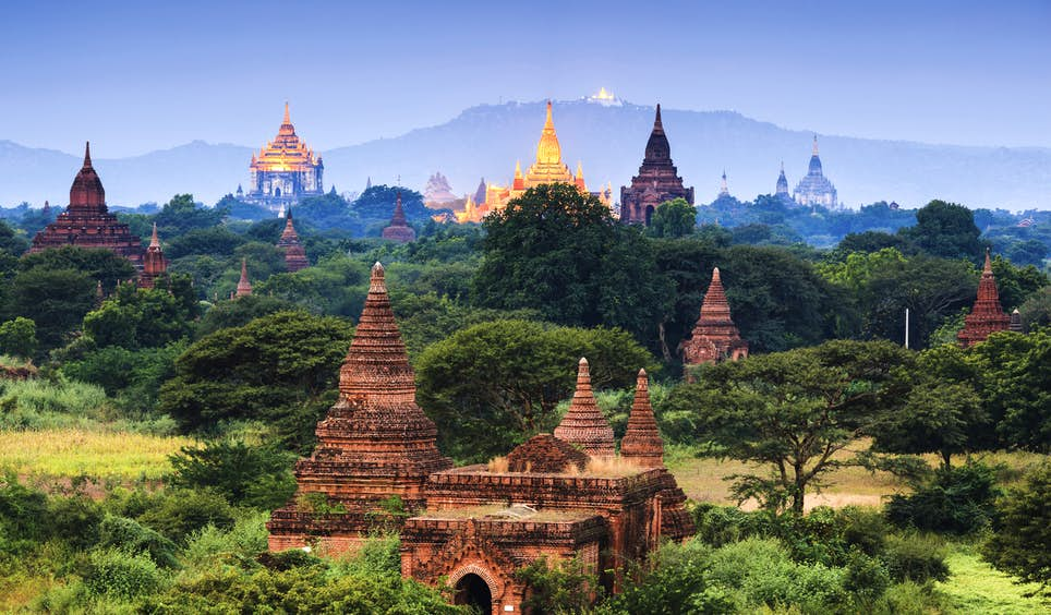 Buddhist temples strewn across the plains of Bagan, Myanmar's answer to Angkor Wat © lkunl / Getty Images