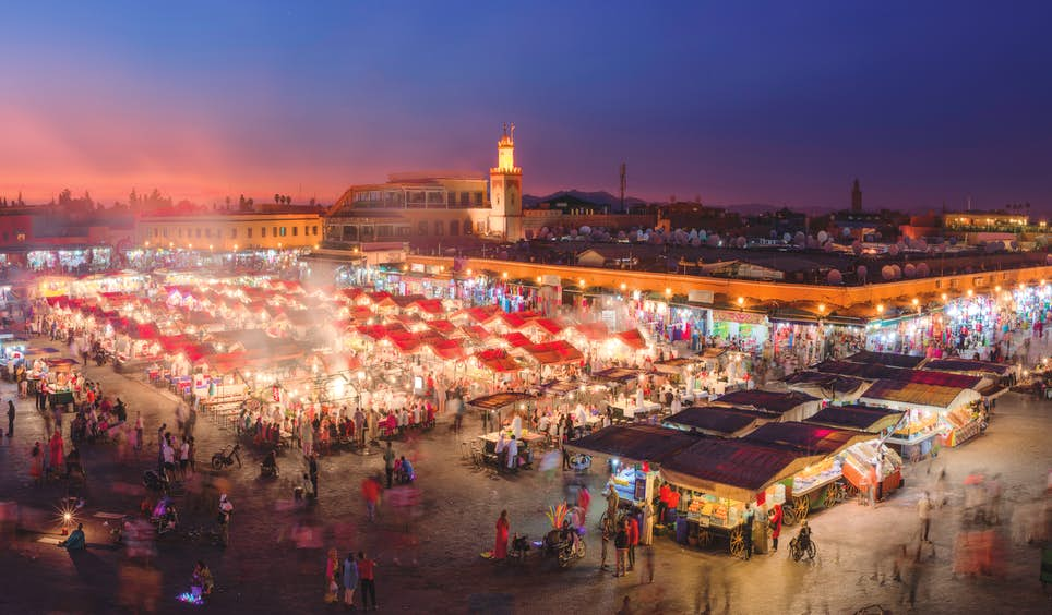 Morocco is full of drama – and nowhere more so than Marrakesh's main square, Djemaa el-Fna © inigofotografia / Getty Images