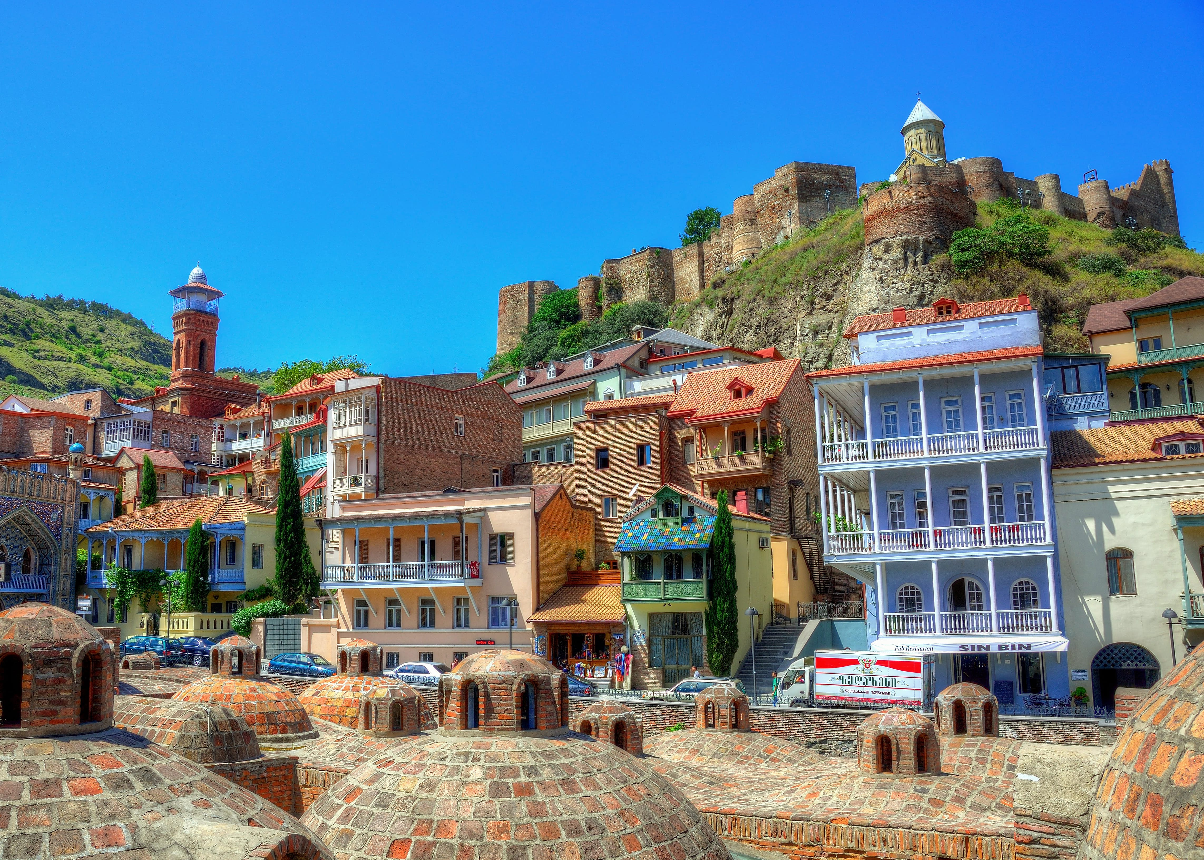 Built as a Persian citadel in the 4th century, Narikala Fortress overlooks the Georgian capital Tbilisi's labyrinthine Old Town © Aaron Geddes Photography / Moment Open / Getty Images