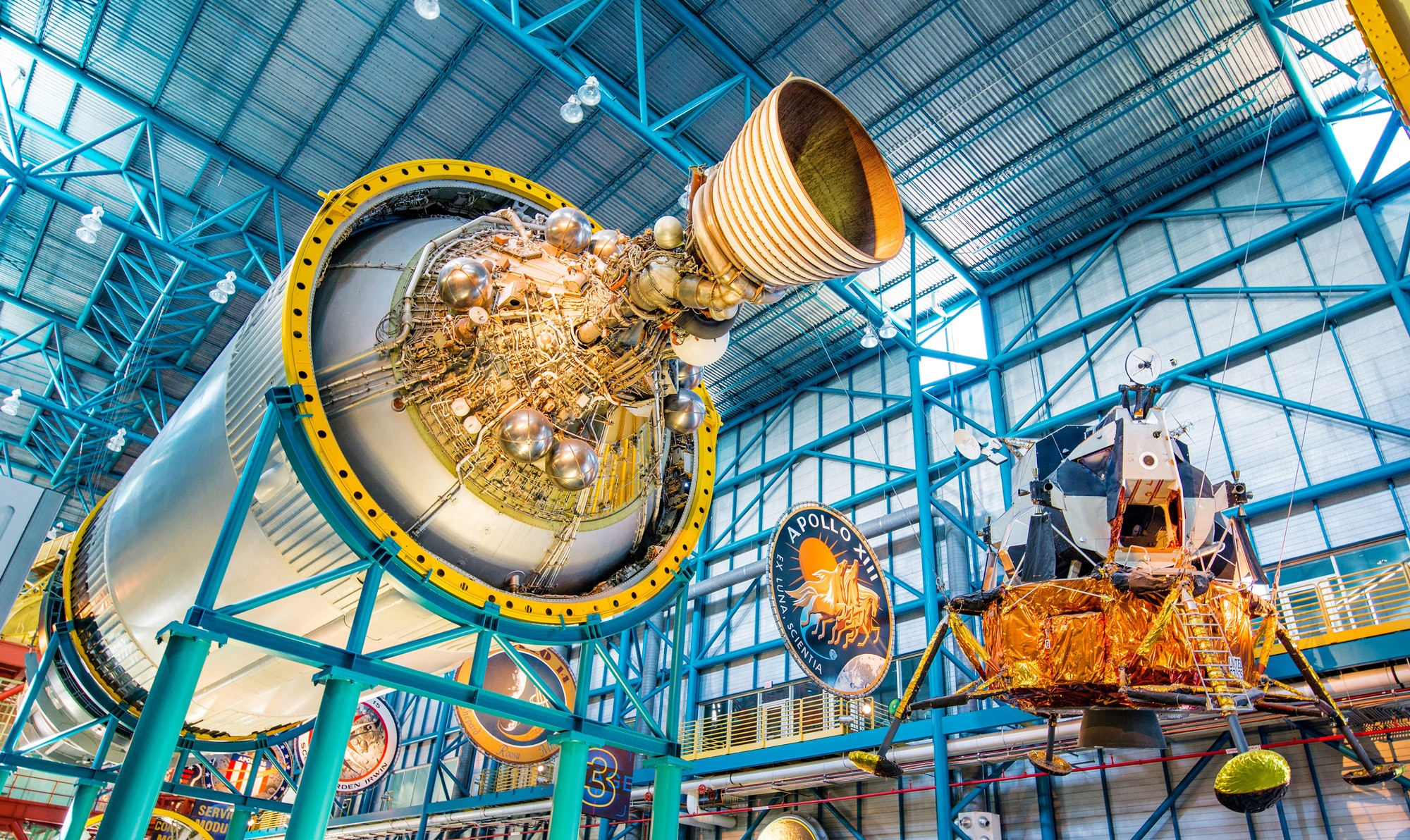 First stage engines from the Saturn 5 rocket on display at the Kennedy Space Center © NaughtyNut / Shutterstock