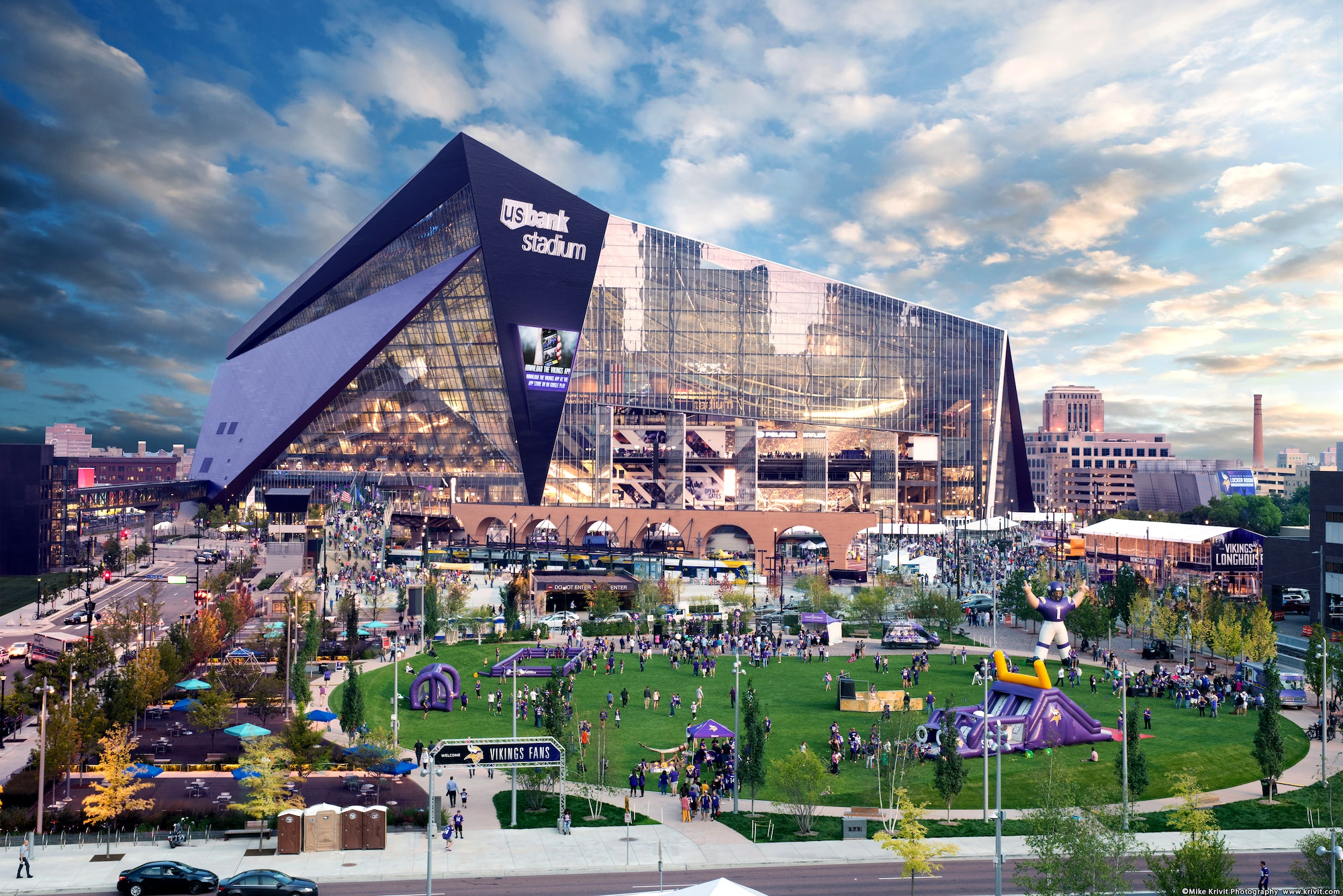 The US Bank Stadium, home of the 2018 Super Bowl © Krivit / Meet Minneapolis