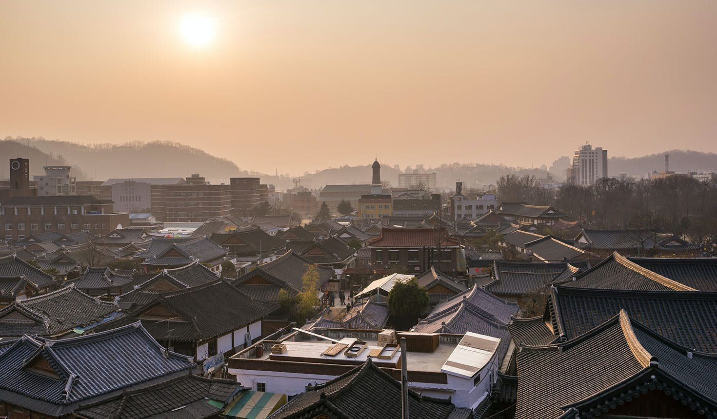 Jeonju Hanok Village is a time capsule of traditional architecture in the centre of the city © Kangheewan / Getty Images