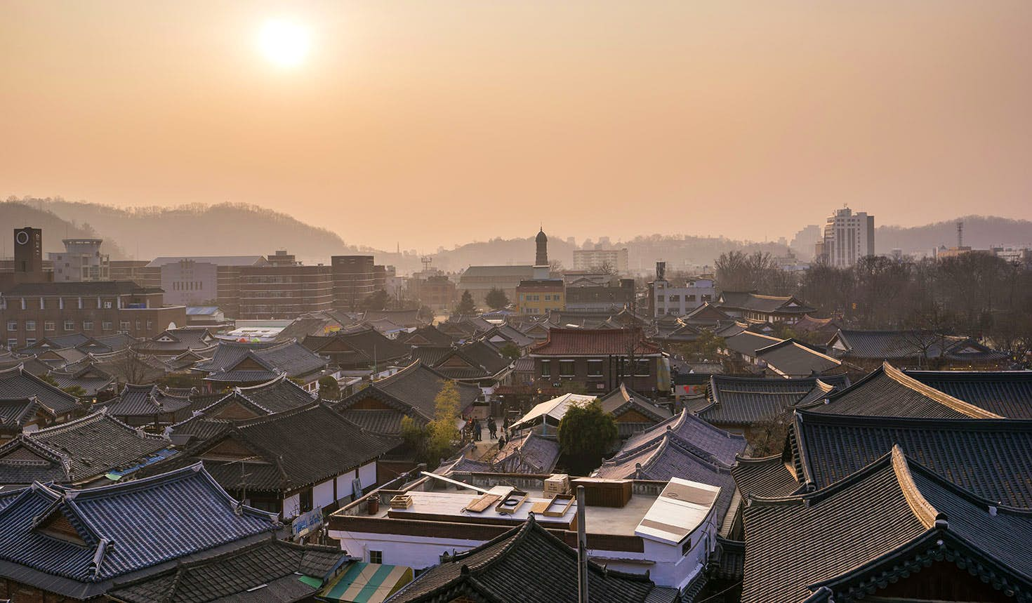 Jeonju Hanok Village is a time capsule of traditional architecture in the centre of the city. Image: Kangheewan / Getty Images